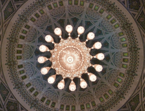 April 2012-Ceiling of Mosque in Muscat