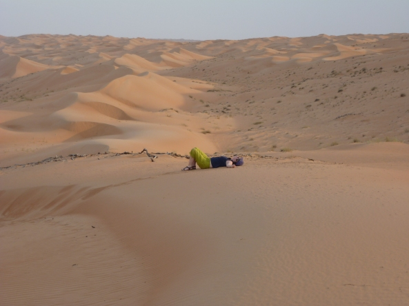 April 2012-Wahiba Desert in Oman-those sand dunes are hard to climb!