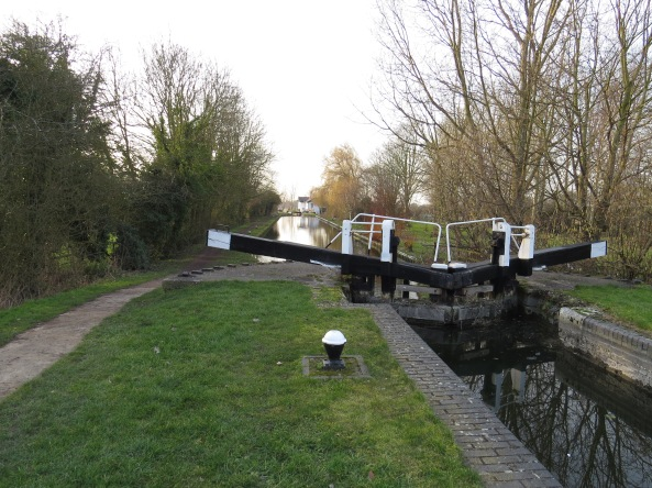 This section of the canal near Marsworth has a lot of locks.