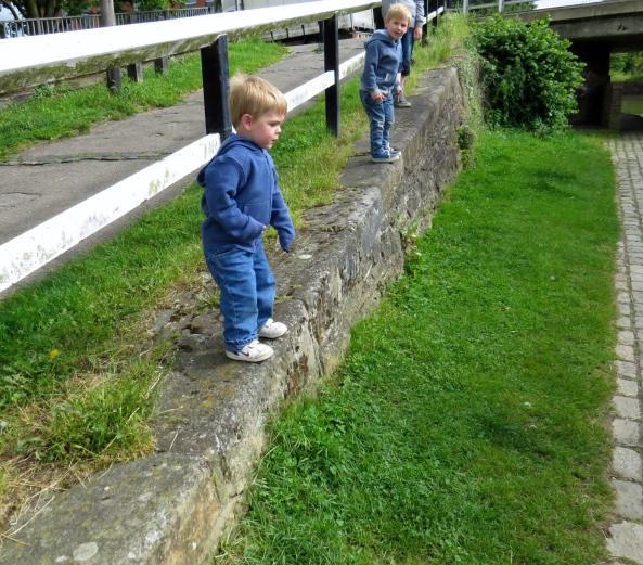 My two grandsons preparing for flight!