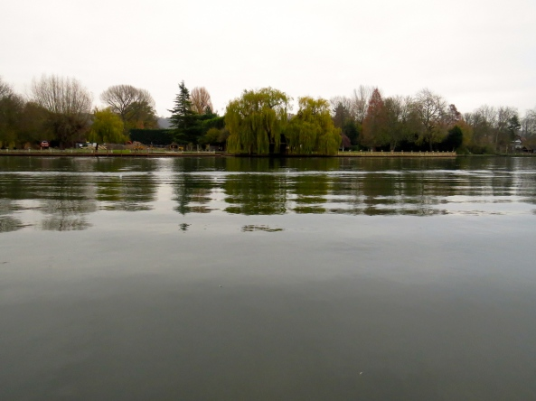 Although the water was glassy smooth and very inviting…..