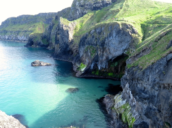 The view from the rope bridge….